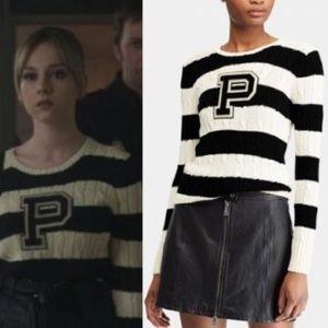 Ralph Lauren NWT Stripe P Knit Sweater
